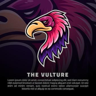 Logo głowy vulture