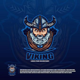 Logo głowy wikingów