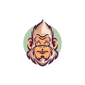 Logo głowy yeti