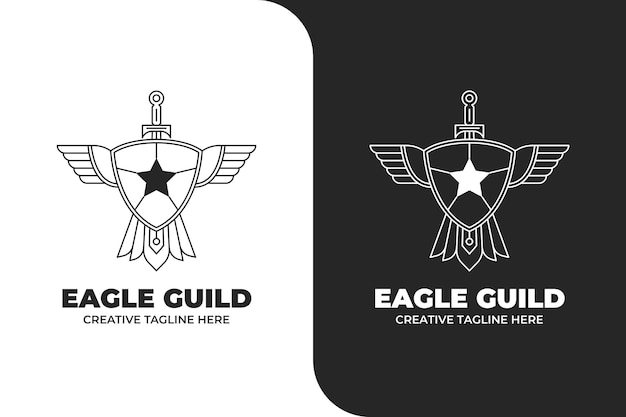 Logo godła tarczy gildii orła