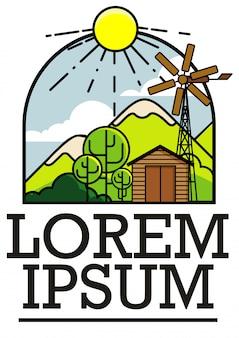 Logo, godło przygoda dla podróżującego klubu, grafika liniowa