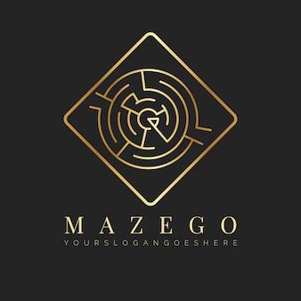 Logo golden maze