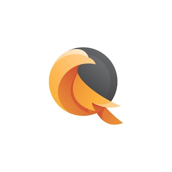 Logo gołębia ptak
