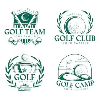 Logo golfa w płaskiej konstrukcji