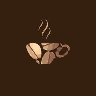 Logo gorącej kawy