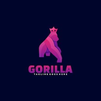 Logo gorilla gradient kolorowy styl.