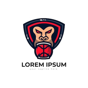 Logo goryla do koszykówki