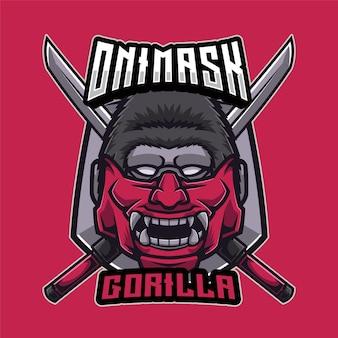 Logo goryla maski oni