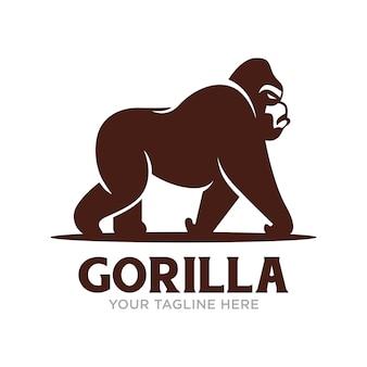Logo goryla na białym tle
