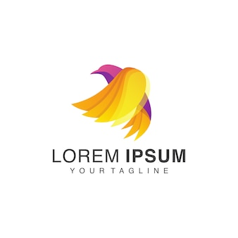 Logo gradient bird