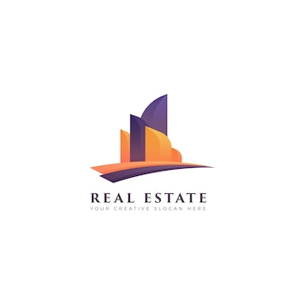 Logo gradient real estate