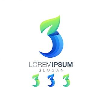 Logo gradientowe liść 3
