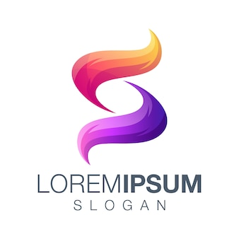 Logo gradientowe litery s.