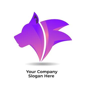 Logo gradientowe psa dla firmy biznesowej
