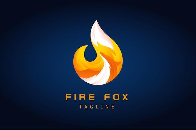 Logo gradientowe w kształcie lisa płomienia