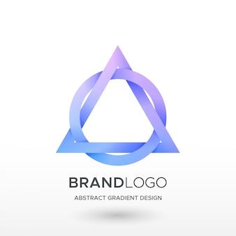 Logo gradientu koło trójkąta