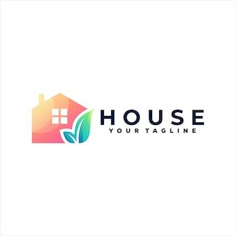 Logo gradientu koloru domu