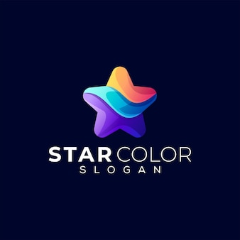 Logo gradientu koloru gwiazdy