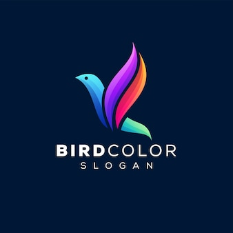 Logo gradientu koloru ptaka