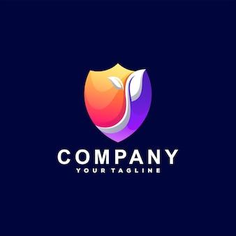 Logo Gradientu Koloru Tarczy Premium Wektorów