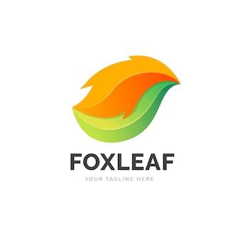 Logo gradientu liścia