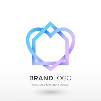 Logo gradientu miłości do domu