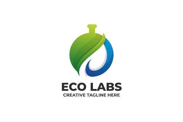 Logo gradientu nature laboratory