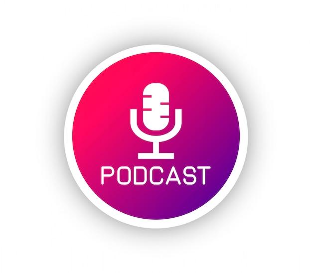 Logo gradientu podcastu