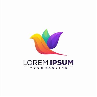 Logo gradientu ptaka