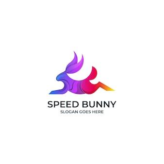 Logo gradientu speed bunny