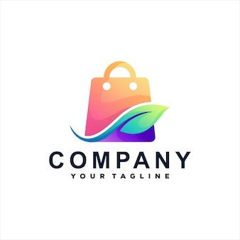 Logo gradientu torby na zakupy