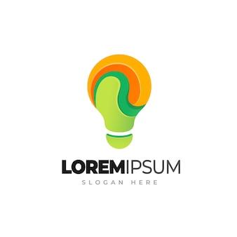 Logo gradientu żarówki