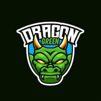 Logo green dragon esport