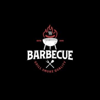 Logo grill grill grill restauracja jedzenie napój - element szpatułki kiełbasa ognista