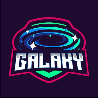 Logo Gry Maskotka Galaxy Premium Wektorów