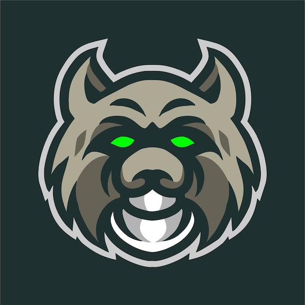 Logo gry maskotka głowy bobcat