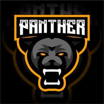 Logo gry maskotka głowy pantery