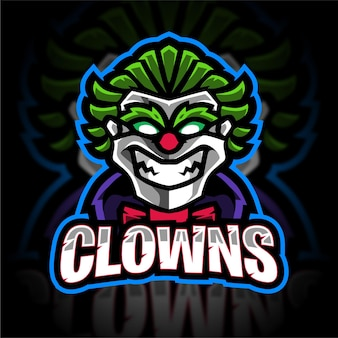 Logo gry maskotka klauna