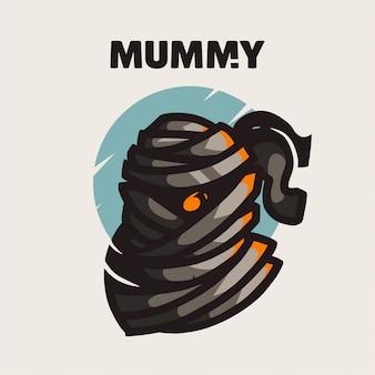 Logo Gry Maskotka Mumia Premium Wektorów