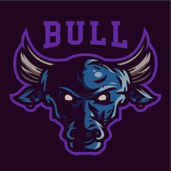 Logo gry maskotka wściekły byk