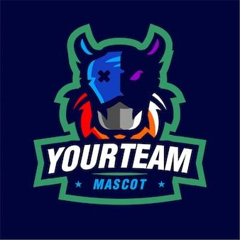 Logo gry maskotki dziwnej maski