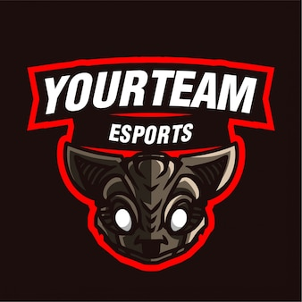 Logo gry w maskotkę szczura