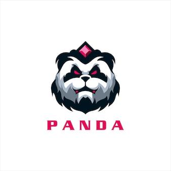 Logo gry z głową pandy