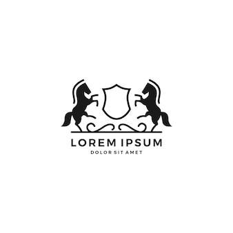 Logo grzebienia konia