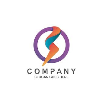 Logo grzmotu w kształcie koła