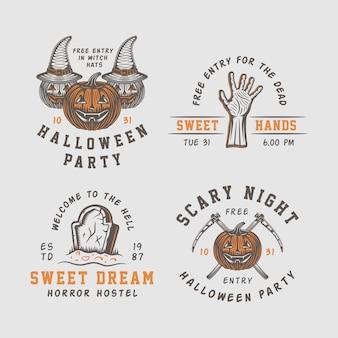 Logo halloween, emblematy