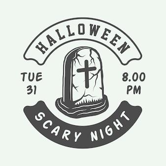 Logo halloween, godło, odznaka