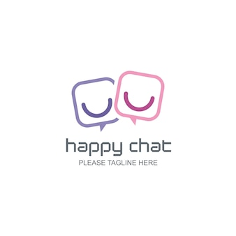 Logo happy chat