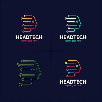Logo head tech