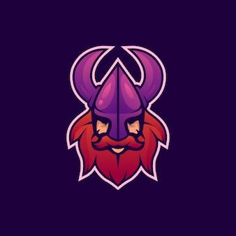 Logo head viking esport